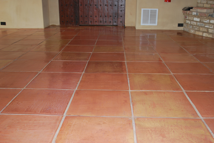 French style terracotta tile