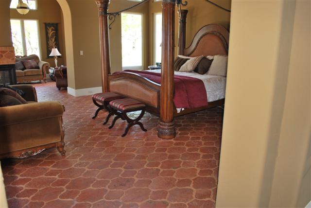 Handmade mexican saltillo tile terracotta tile european and ceramic tile - Ceramic tile flooring bedroom ...