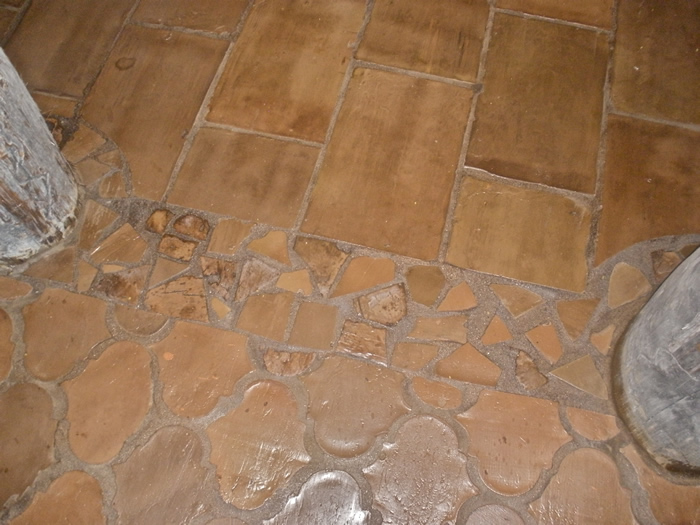 French Terracotta tile caffe