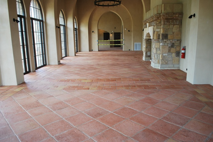 Terracotta Tiles Installed In A Tuscany Style Contry Club