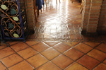 Saltillo Tile in a French Restaurant.