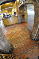 Saltillo tile and Terracotta tile conbined together