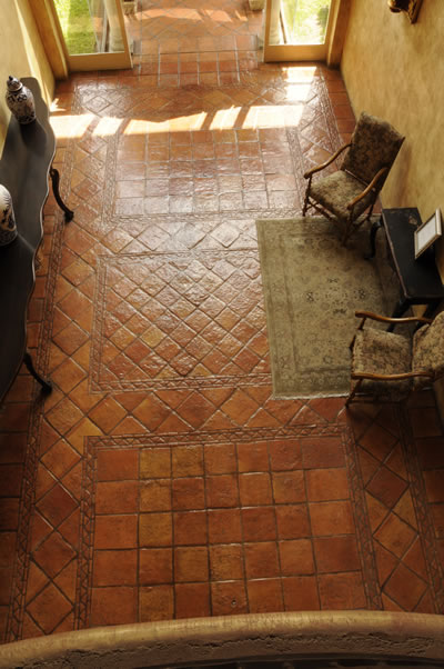 Our terra cotta tile comes in many shapes and sizes, and can be used to create a wide variety of patterns and designs.